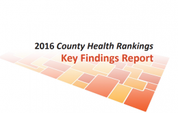 2016 County Health Rankings Key Findings Report cover image
